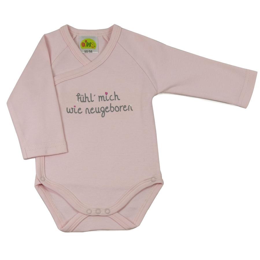 DIMO Newborn Langarmbody Sprüche Rosa