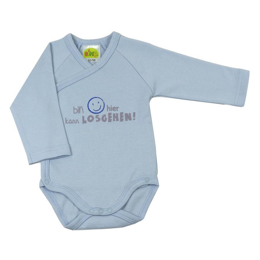 DIMO Newborn Langarmbody Sprüche Blau