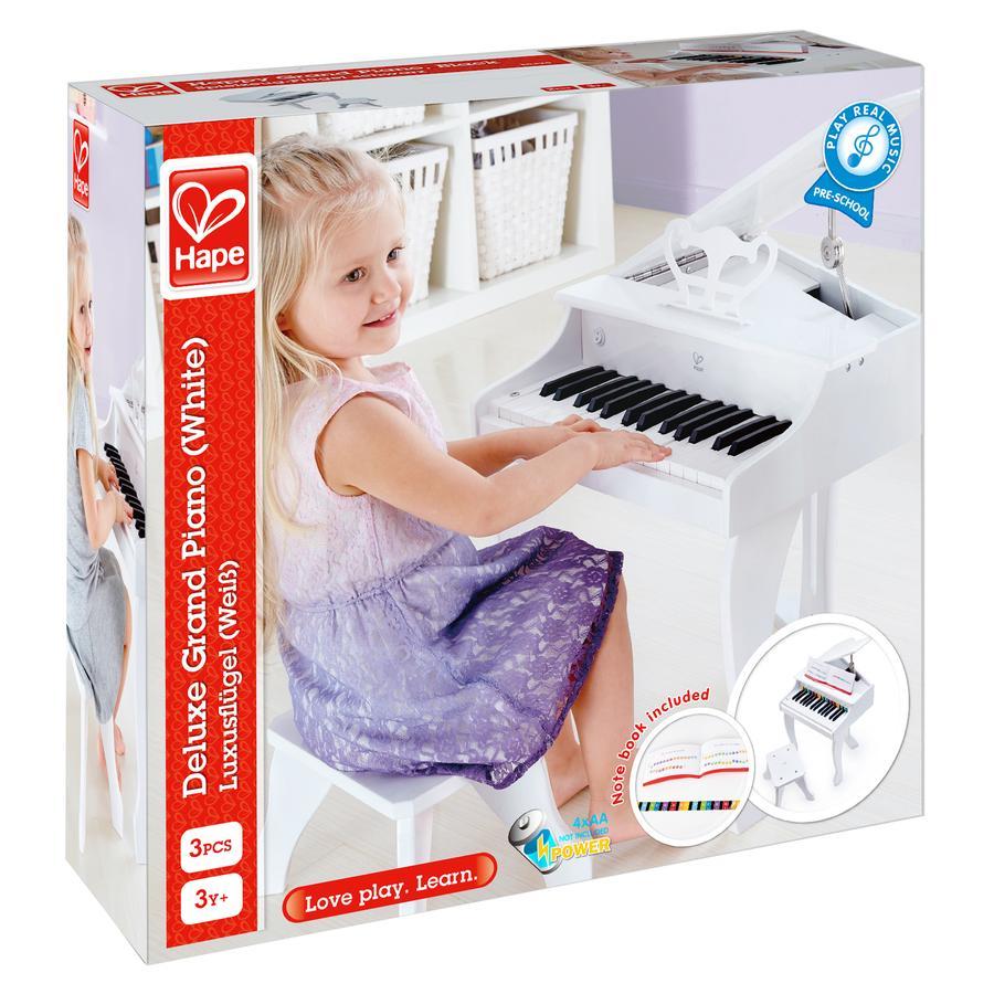 Hape Piano à queue enfant de luxe, blanc E0338