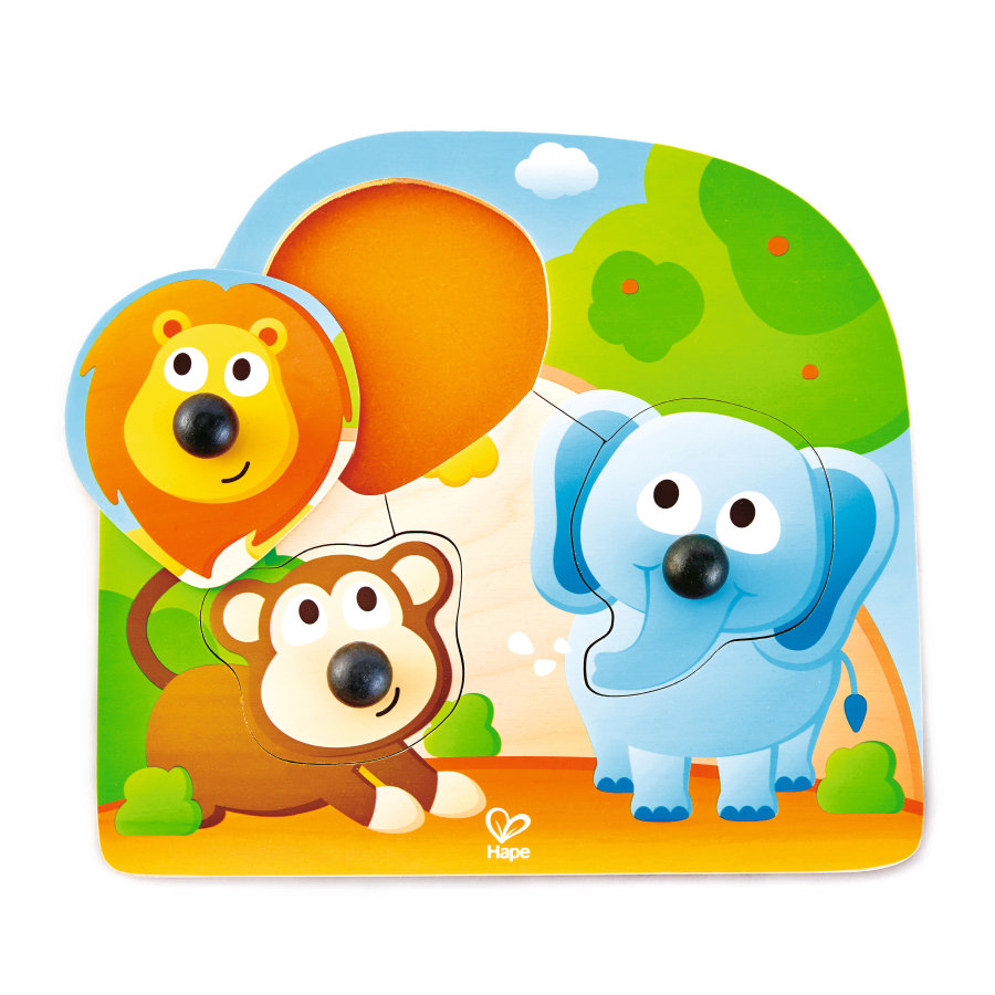 Hape Puzzle à boutons Animaux de la jungle