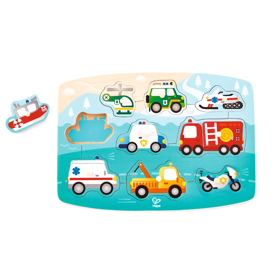 Hape Puzzle, Pojazdy ratunkowe