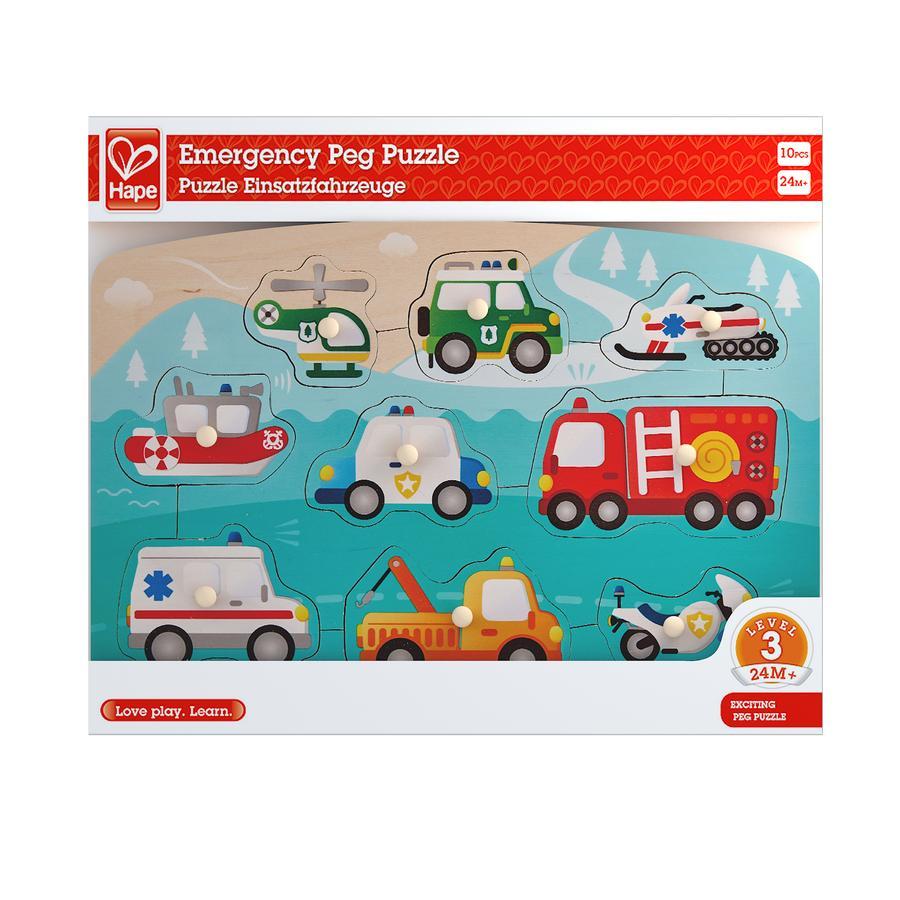 Hape Puzzle véhicules prioritaires 10 pièces E1406
