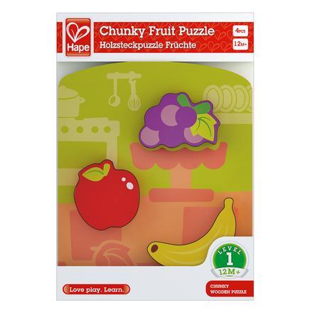 Hape Puzzle à encastrer Fruits, bois