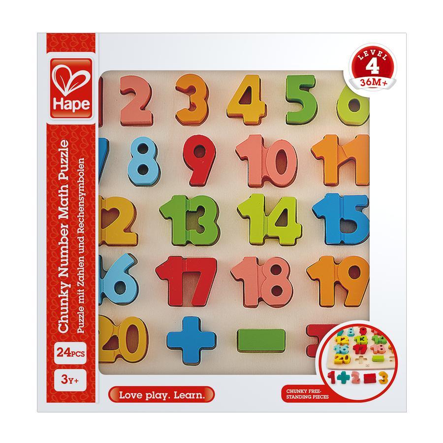 Hape puzzel met cijfers en rekenkundige tekens