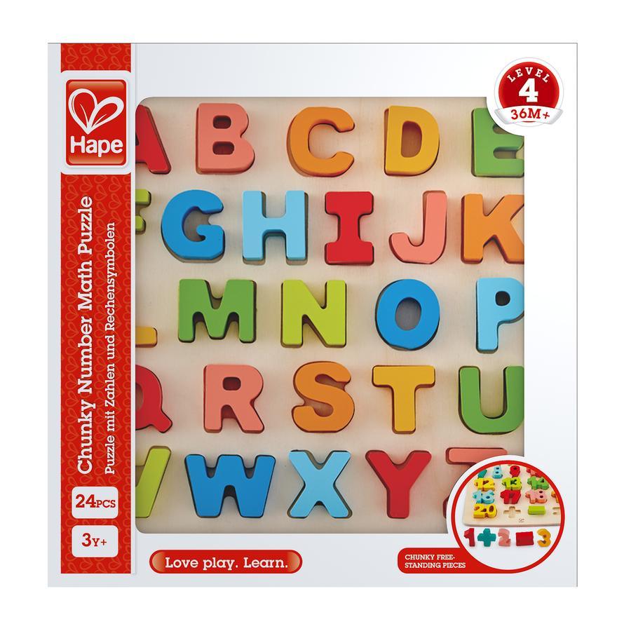 Hape puzzel met grote letters