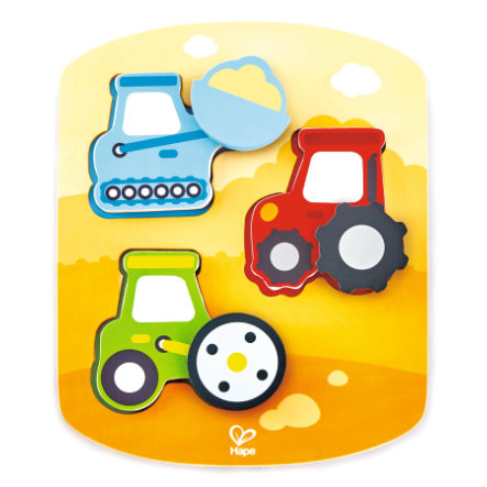 Hape Dynamic Agricultural Machinery Puzzle
