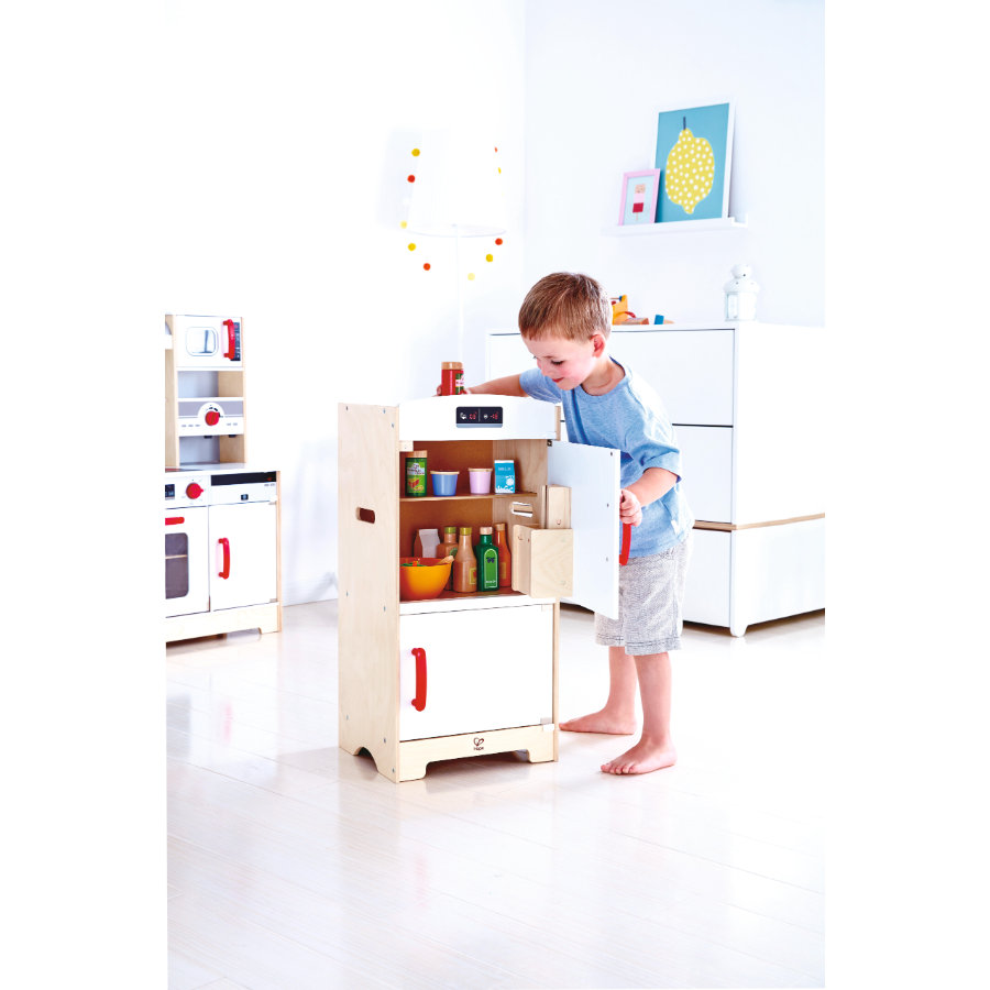hape wei er k hlschrank mit gefrierfach baby. Black Bedroom Furniture Sets. Home Design Ideas