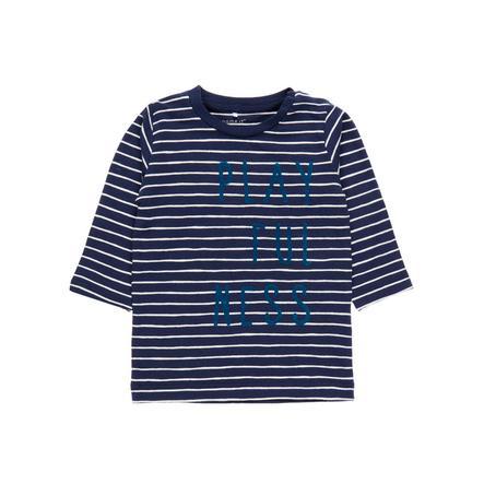 name it Boys Dijon strepen lange mouwen shirt jurkje blauw