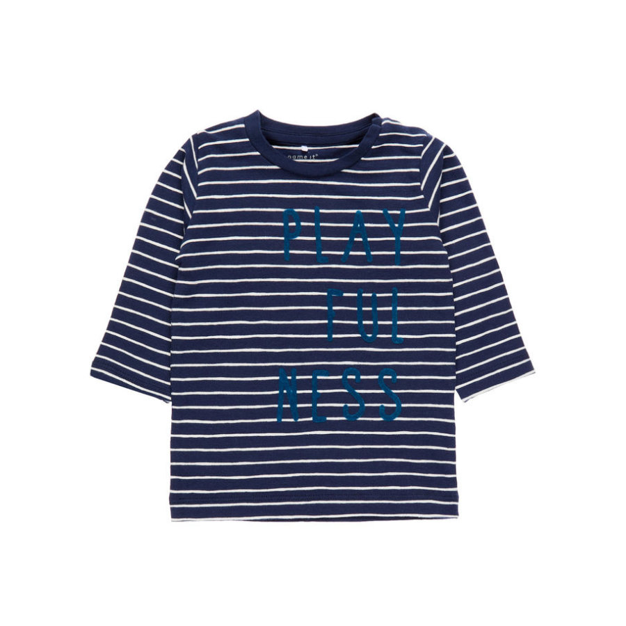 name it Boys Langarmshirt Dijon Streifen dress blues