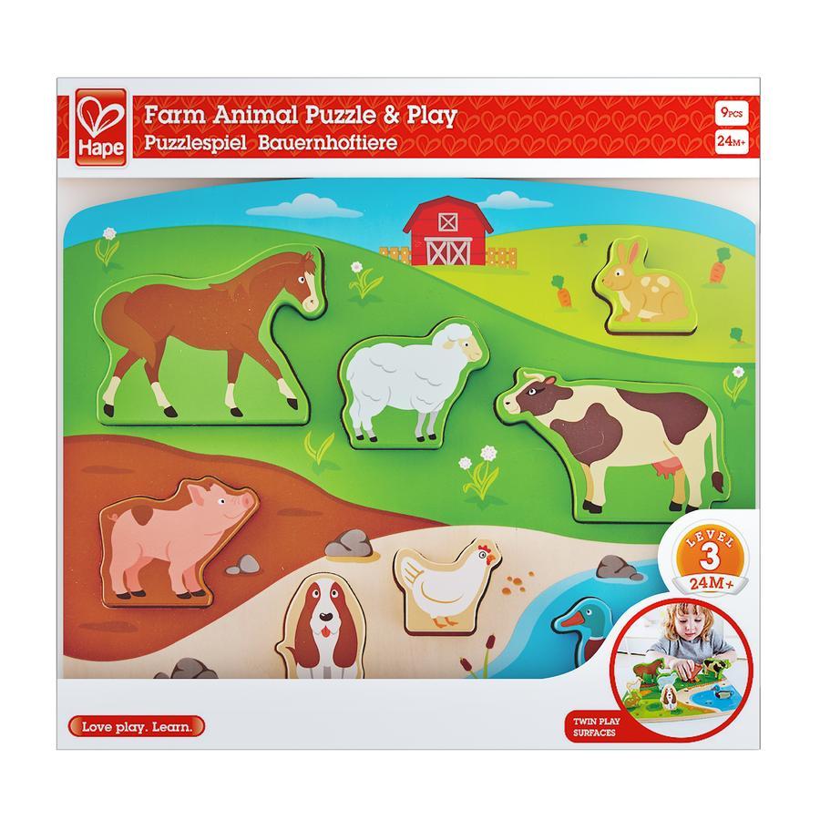 Hape Steckpuzzlespiel Bauernhoftiere