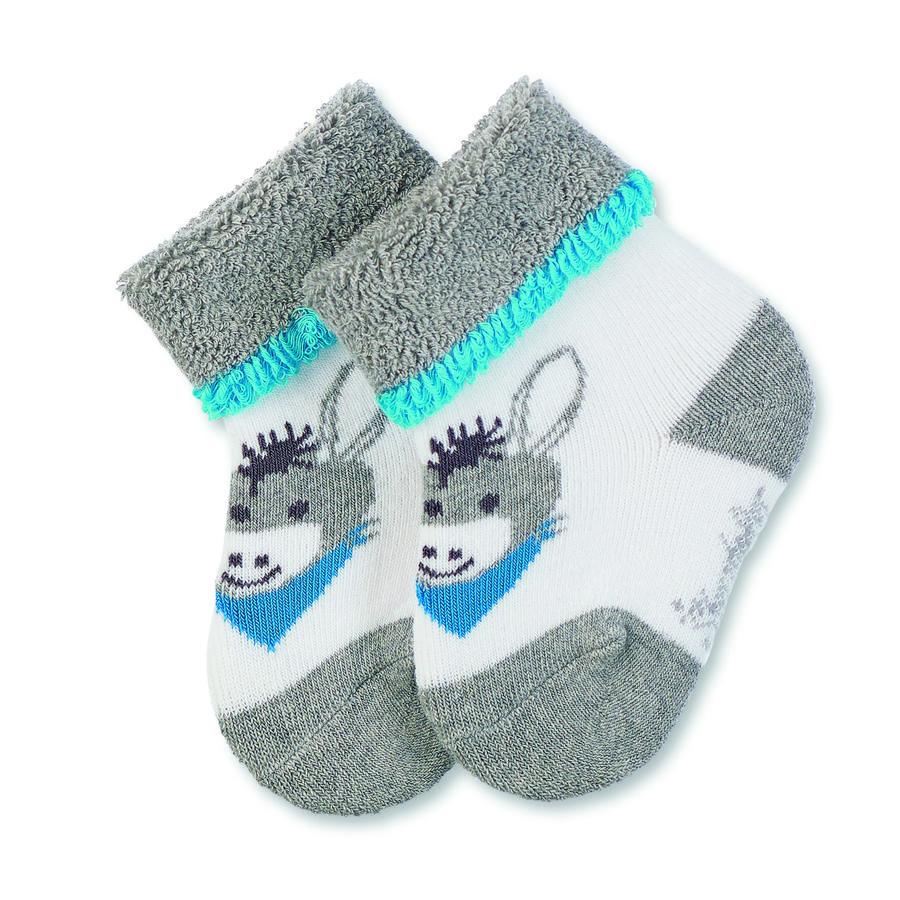 Sterntaler Baby sokken Erik zilver melange