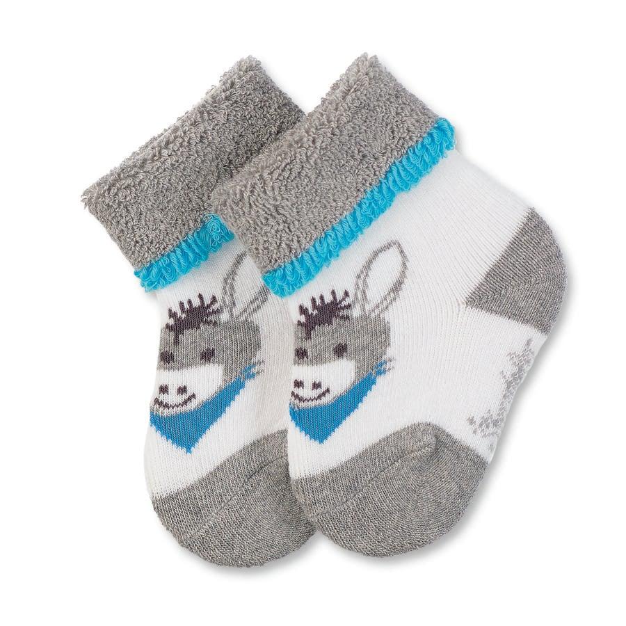 Sterntaler dětské ponožky Erik šedá melange