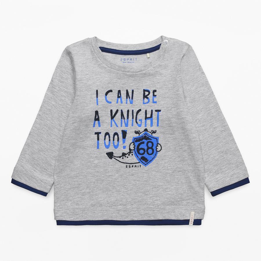 ESPRIT Boys Shirt met lange mouwen licht heide grijs