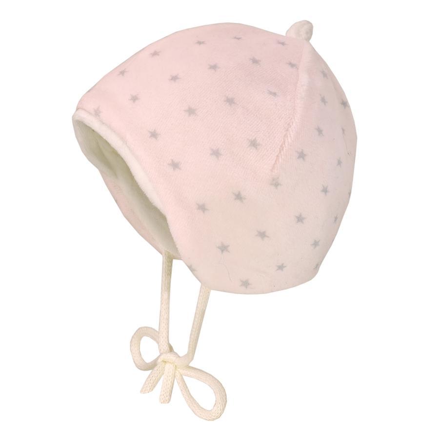 maximo Cappello in velluto rosa pallido/grigio