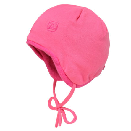 maximo Cap borduursel met fleece voering roze rozerose
