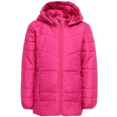 name it Girl s veste matelassée Mine fuchsia violet