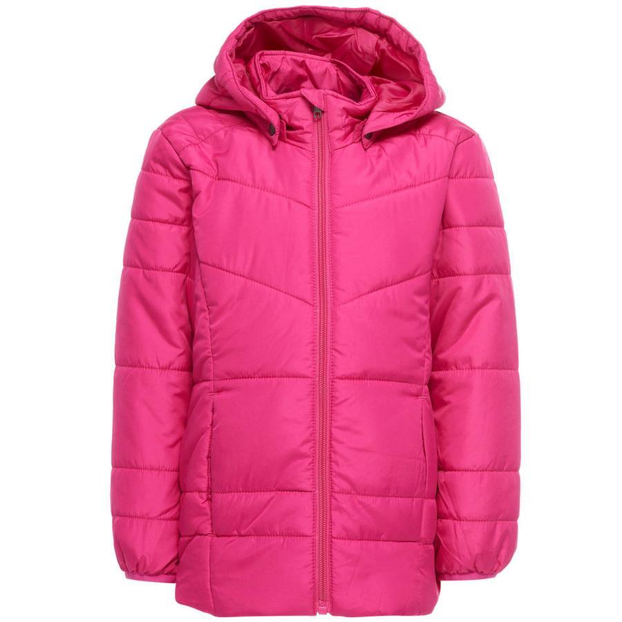 name it Girls Gewatteerde jas Mine fuchsia purple