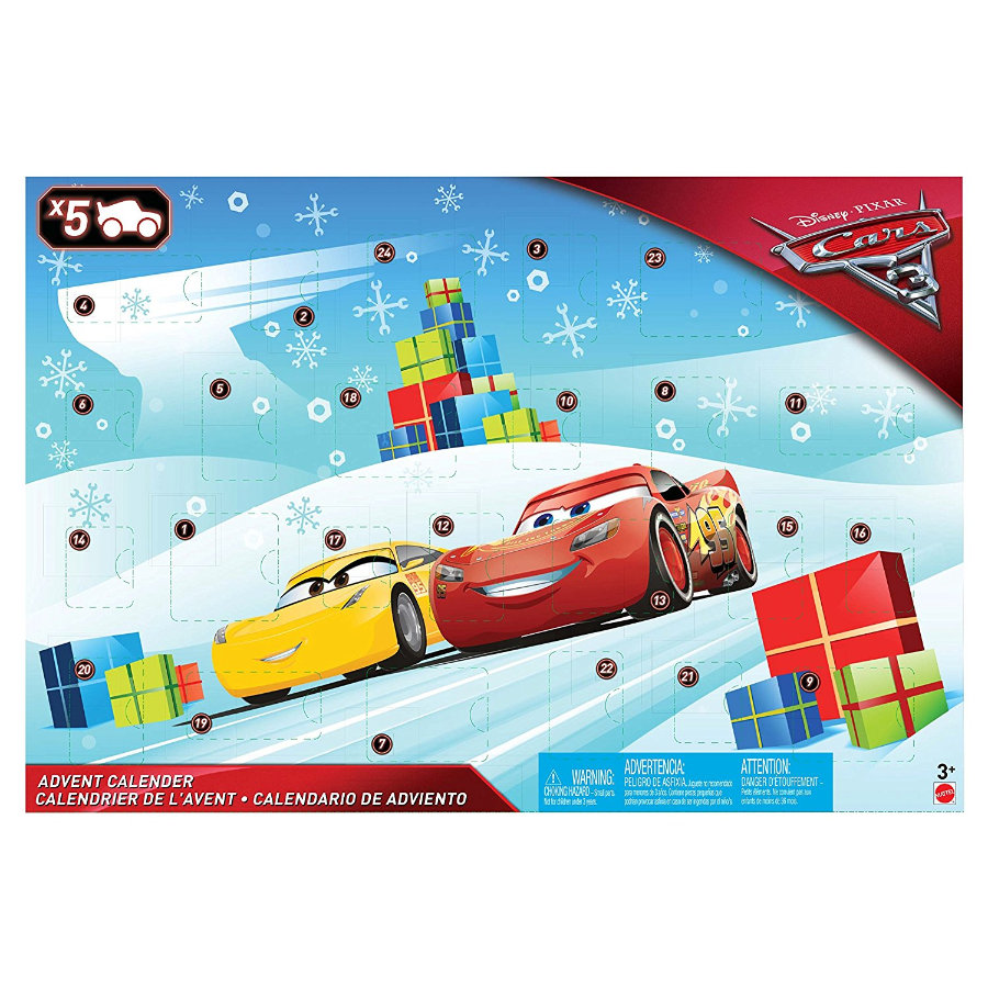 mattel calendrier de l 39 avent cars 3 disney 2017. Black Bedroom Furniture Sets. Home Design Ideas