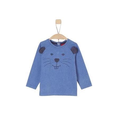 s.Oliver Langermet skjorte for gutter blå melange
