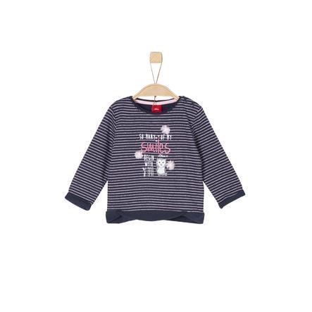 s.Oliver Girl s Bluza bluza z ciemnoniebieskimi paskami