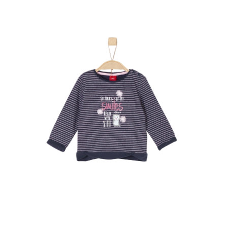 s.Oliver Girls Sweatshirt dark blue stripes