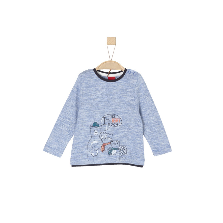 s.Oliver Boys Chemise manches longues bleu rayures multicolores