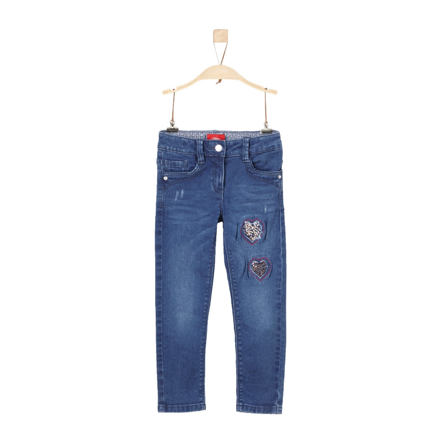 s.Oliver Girl s Jeans blue denim regularny Jeans.