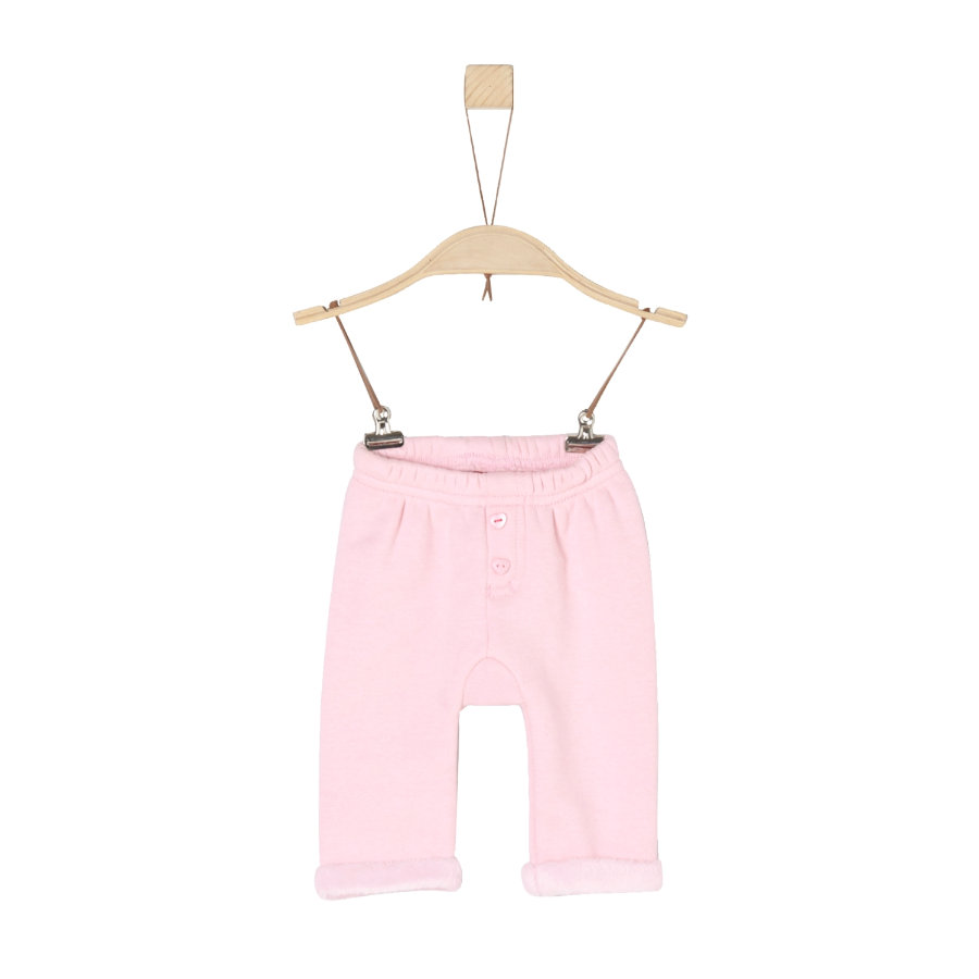 s. Olive r Girls Fleecové kalhoty light pink