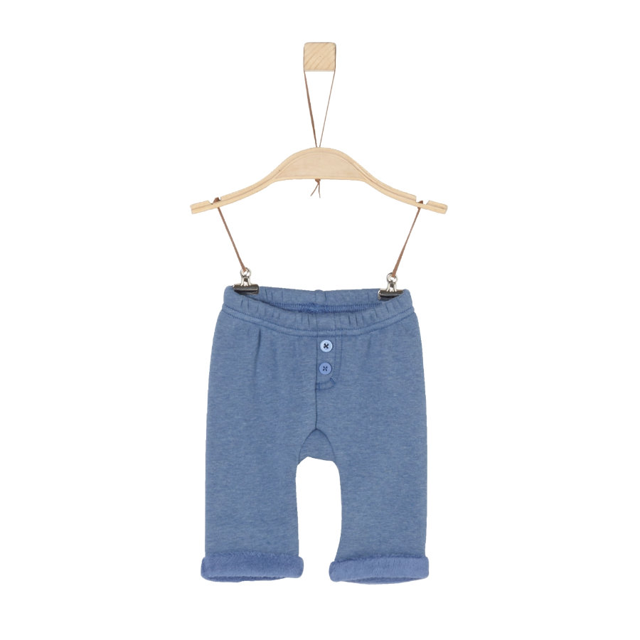 s.Oliver Boys Fleecehose blue melange