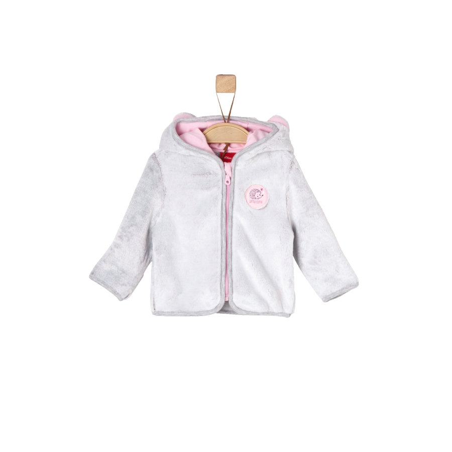 s.Oliver Girls Sweatjacke grey two tone
