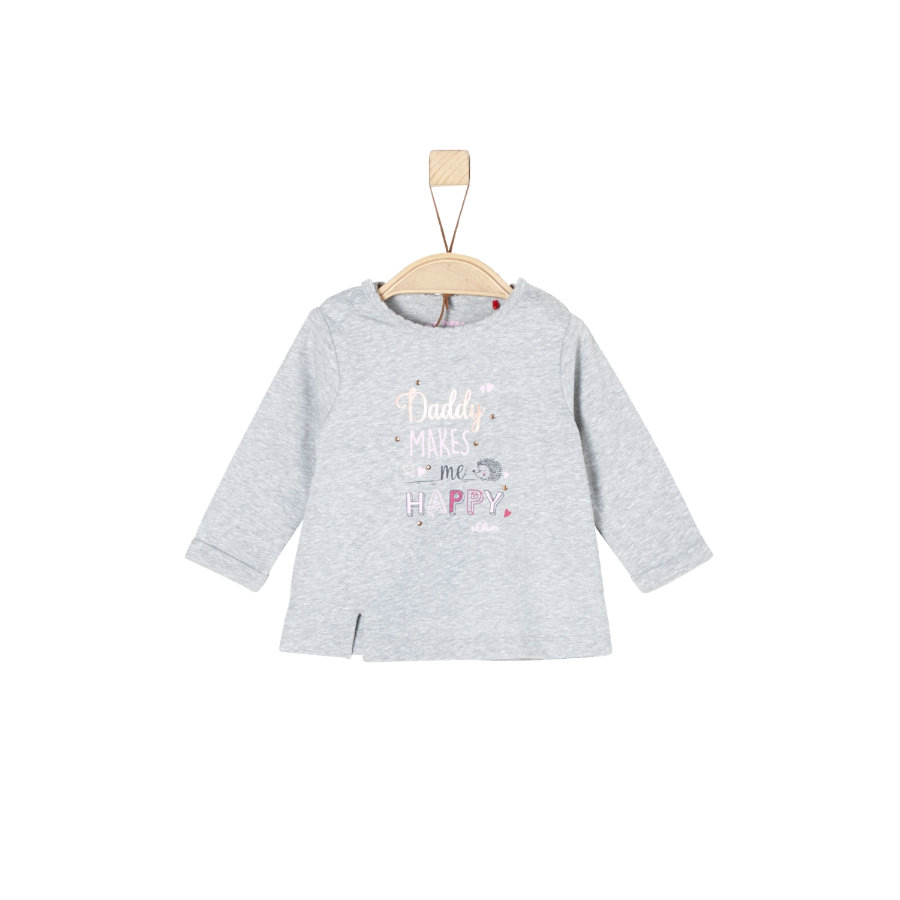 s.Oliver Girl s camisa de manga larga gris mélange