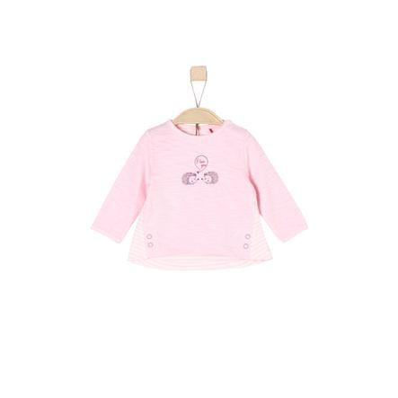 s. Oliver Tyttöjen pitkähihainen paita vaaleanpunainen