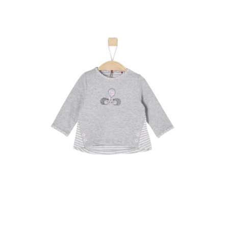 s.Oliver Girls Langarmshirt light grey melange