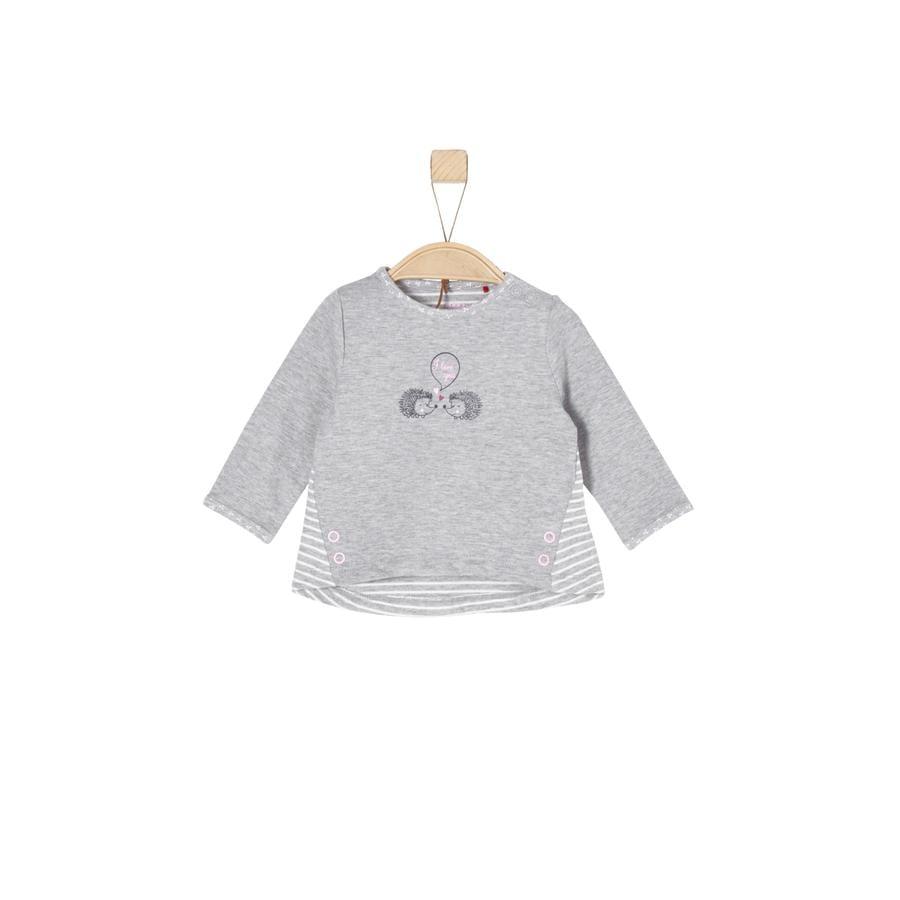 s.Oliver T-shirt manches longues enfant mélange gris