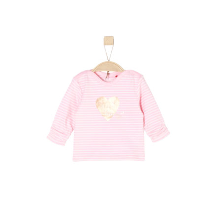 s.Oliver Girl s Camisa de manga larga rayas rosa claro