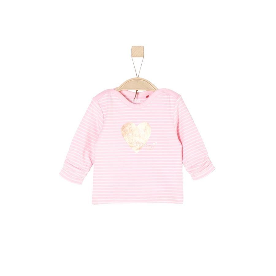 s.Oliver Girl s Overhemd met lange mouwen lichtroze strepen