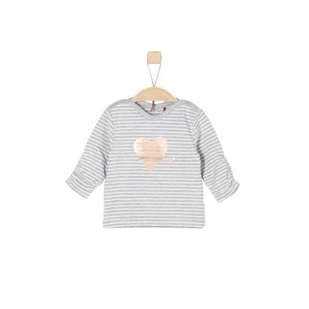 s.Oliver Girls Langarmshirt grey stripes