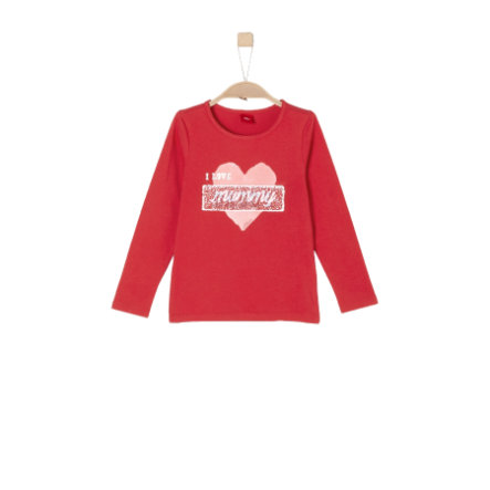 s.Oliver Girl s chemise à manches longues rouge
