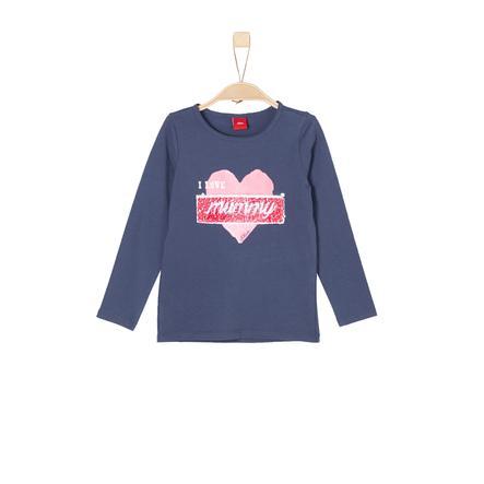 s.Oliver Girl s camisa de manga larga azul oscuro