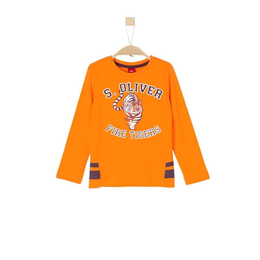 s.Oliver Boys Koszula z długim rękawem jasnopomarańczowa