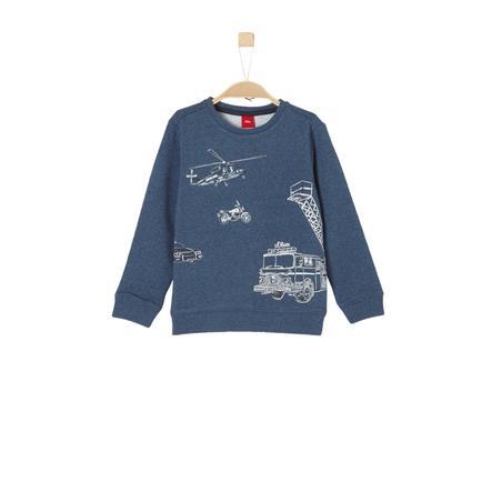 s.Oliver Boys Camisa manga larga azul mélange