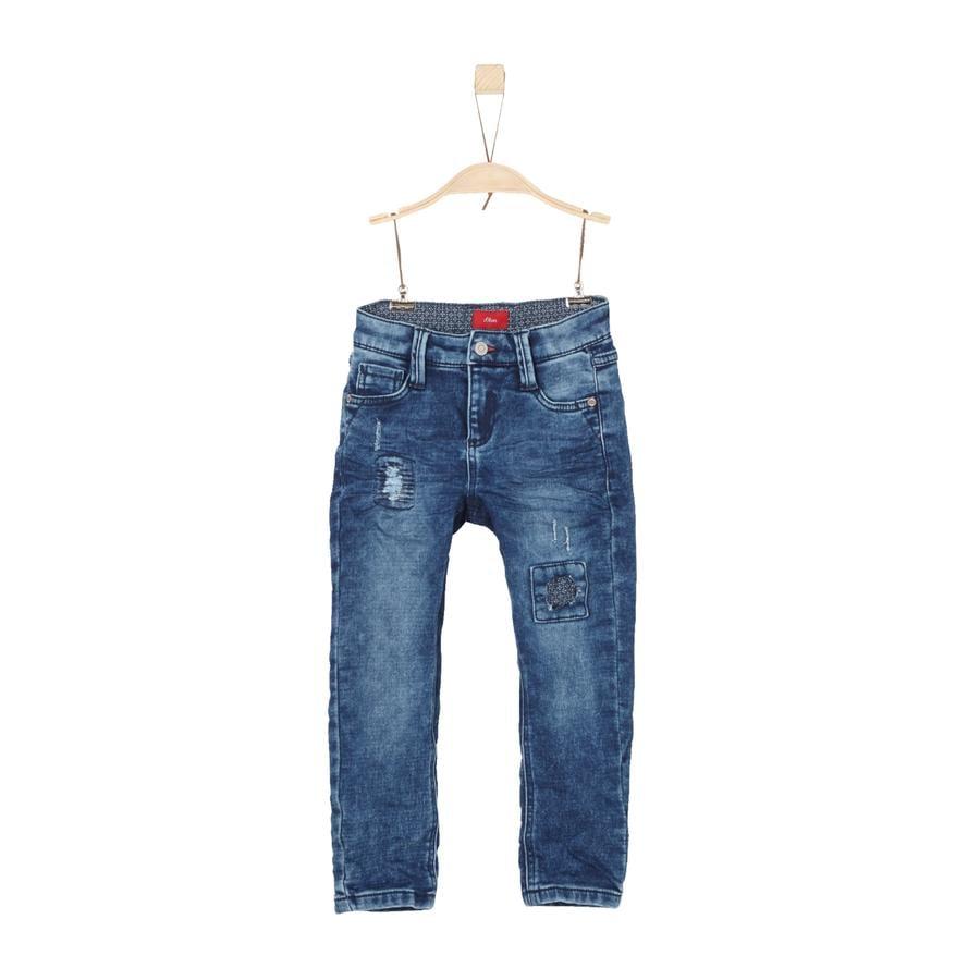 s.Oliver Boys Spijkerbroek blauw denim stretch