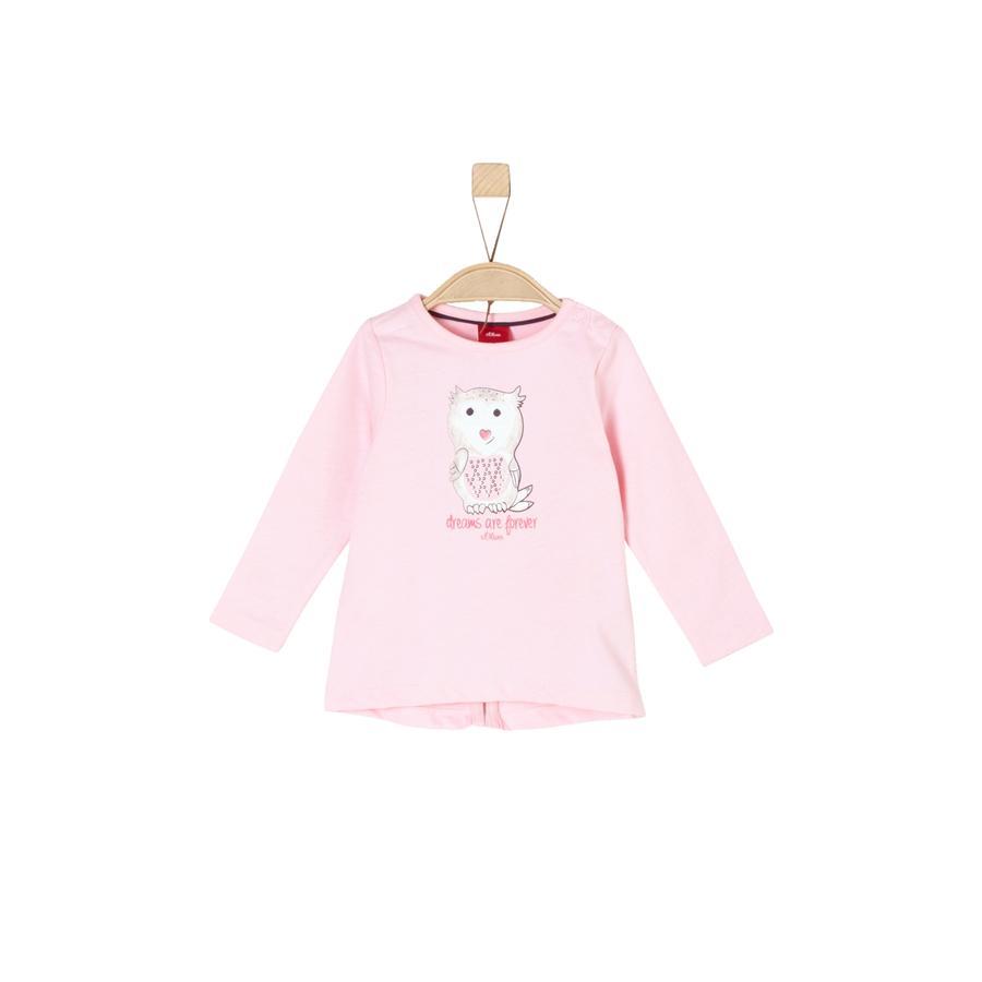 s.Oliver Girls Langarmshirt light pink