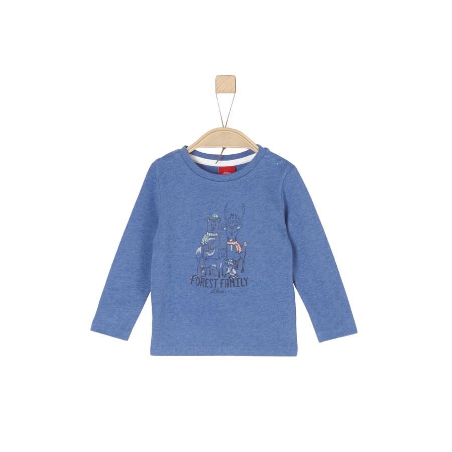 s.Oliver Boys Chemise manches longues bleu melange