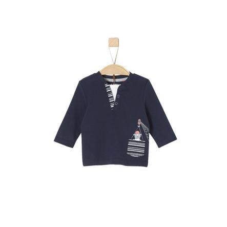s.Oliver Camisa manga larga azul oscuro