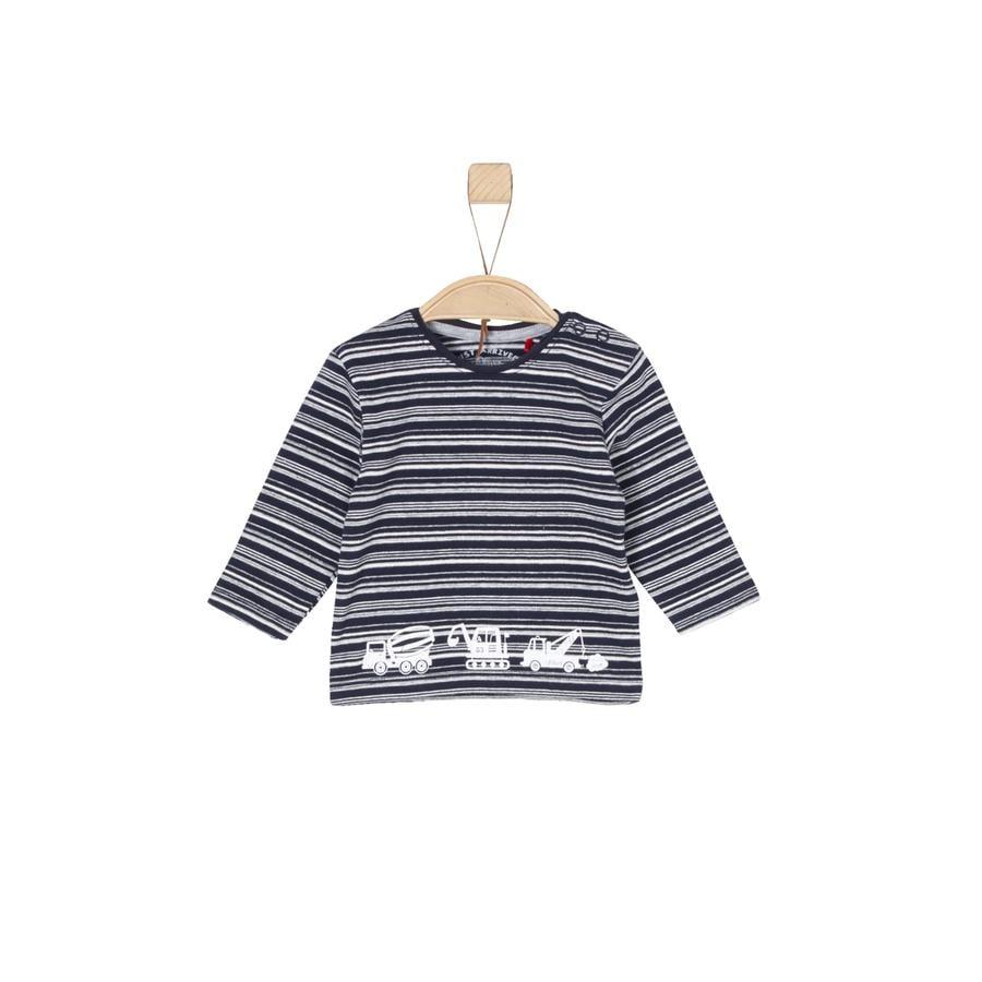 s. Olive r Chlapecké tričko s dlouhým rukávem modré stripes