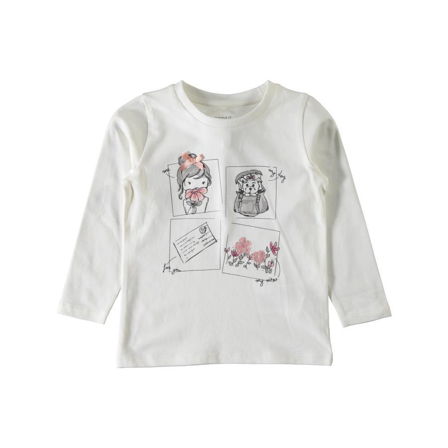 name it Girl Camiseta manga larga Elina blanco nieve