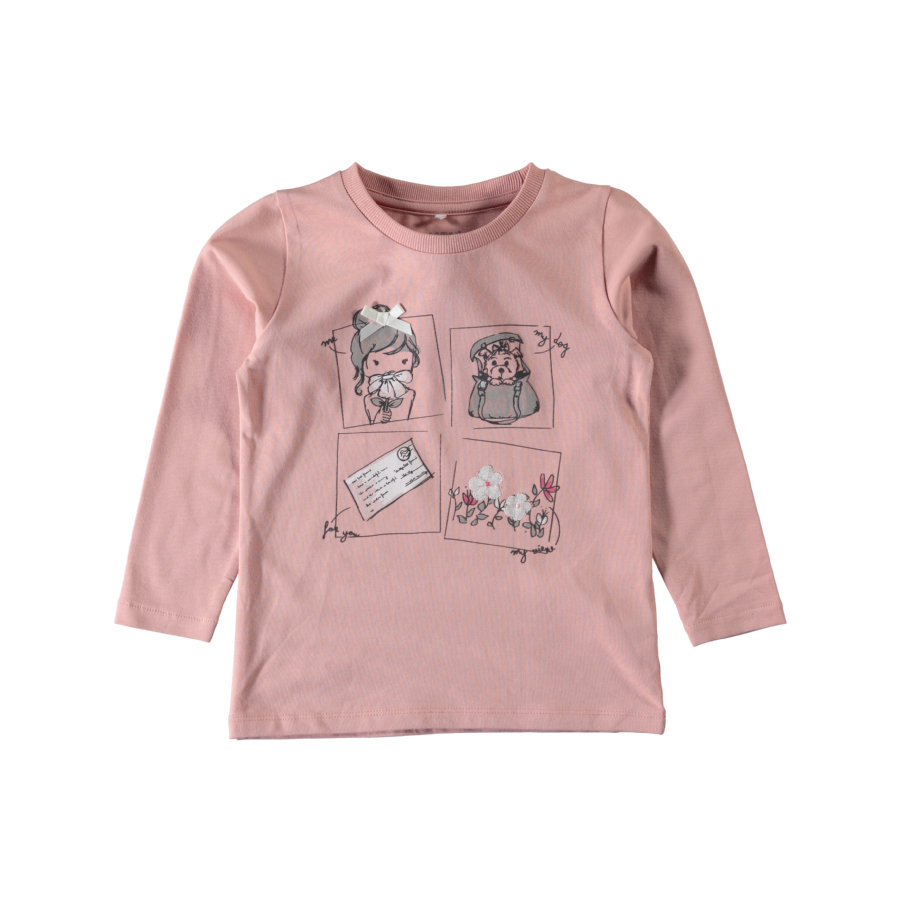 name it Girls T-Shirt Elina rose tan