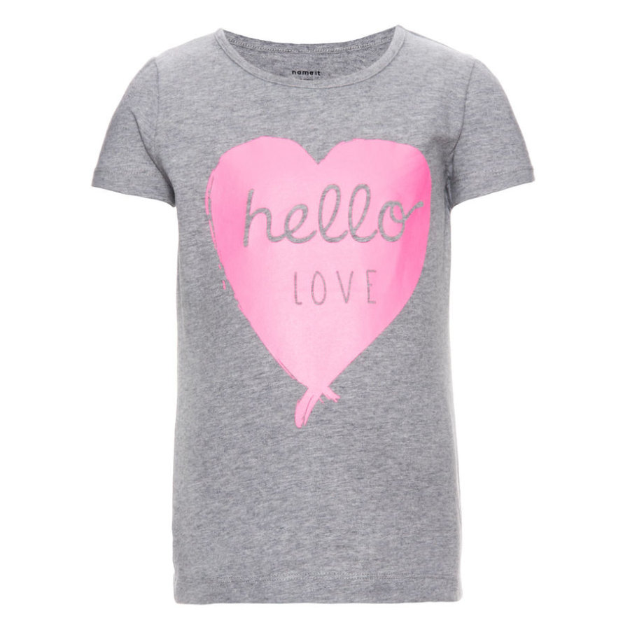 name it Girls T-Shirt Editta grey melange