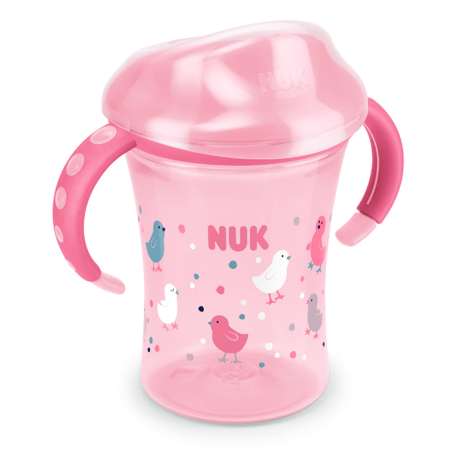 NUK Drinkbeker Easy Learning Training Cup 250 ml, vanaf 8 maanden, design: vogeltjes